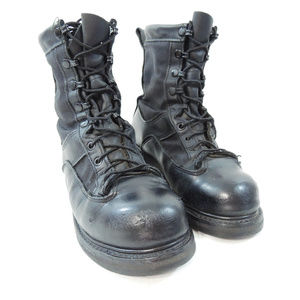 Vibram Goretex Black Leather Military Boots
